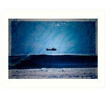 Dawn fishing, Indonesia Art Print