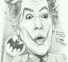 'Joker' Cesar Romero gourmet caricature by Sheik by sheik1