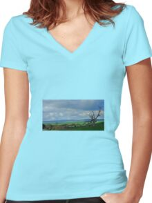 Country Fields, South Australia Women's Fitted V-Neck T-Shirt