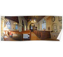 St Mary, Lenham, Nave Panorama Poster