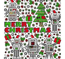 Merry Christmas Robots by robyriker