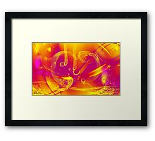 abstract 123 Framed Print