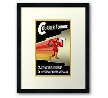 Lightning Courier Framed Print