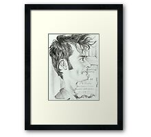 '10th Doctor' gourmet caricature by Sheik Framed Print