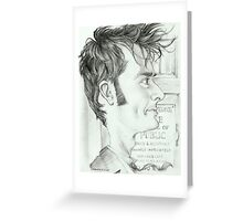 '10th Doctor' gourmet caricature by Sheik Greeting Card