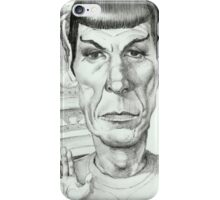 'Spock' gourmet caricature by Sheik iPhone Case/Skin