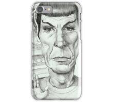 'Spock' gourmet caricature by Sheik iPhone Case/Skin