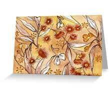 Golden Australian Gum Flower Greeting Card