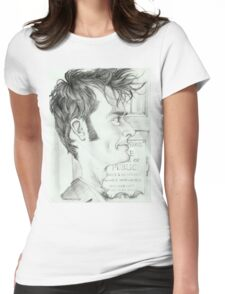 '10th Doctor' gourmet caricature by Sheik Womens Fitted T-Shirt