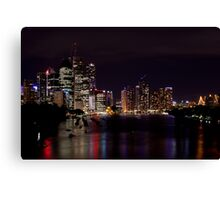 Colour in the Brisbane River  Canvas Print