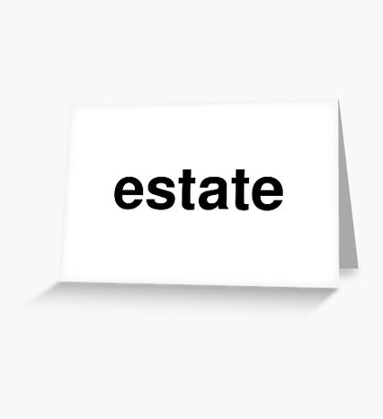 estate Greeting Card