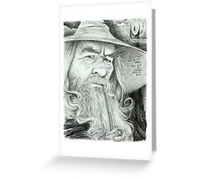 'Gandalf' gourmet caricature by Sheik Greeting Card