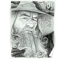'Gandalf' gourmet caricature by Sheik Poster