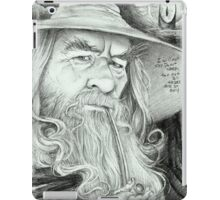 'Gandalf' gourmet caricature by Sheik iPad Case/Skin