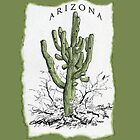 ARIZONA giant Saguaro art on an iPHONE case + + by James Lewis Hamilton
