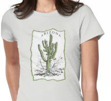 ARIZONA giant Saguaro art  Womens Fitted T-Shirt