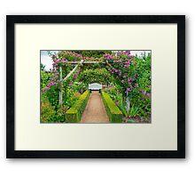 Mottisfont House Garden Framed Print