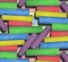 Street Chalk Horizontal Lines Duvet Sticker