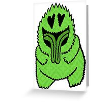 Freak Beast Lover Green Greeting Card