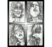 'Kiss' gourmet caricatures by Sheik Photographic Print