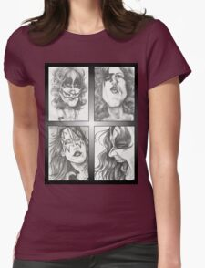 'Kiss' gourmet caricatures by Sheik Womens Fitted T-Shirt