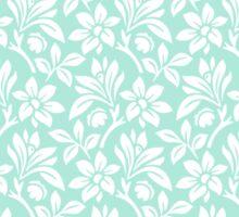 Mint Vintage Wallpaper Style Flower Patterns Sticker
