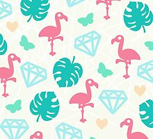Miami Beach Pastels Pattern by XOOXOO