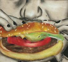 hamburger eating by arielcadoff