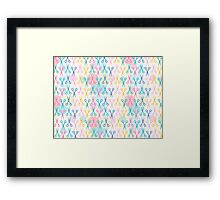 Hair Scissors Pastel Pattern Framed Print