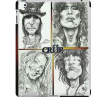 'Crue' gourmet caricatures by Sheik iPad Case/Skin