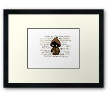 Jawa and Jawaese Framed Print