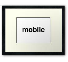 mobile Framed Print