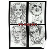 'Rocky Horror' gourmet caricatures by Sheik Poster
