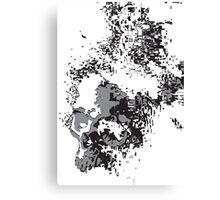 SKULLS BLACK AND WHITE FADING Canvas Print