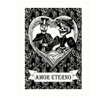 AMOR ETERNO | ETERNAL LOVE | Black & White Art Print
