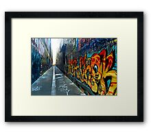 colorful graffiti Framed Print