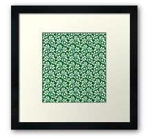 Green Vintage Wallpaper Style Flower Patterns Framed Print