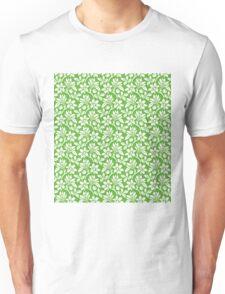 Grass Green Vintage Wallpaper Style Flower Patterns Unisex T-Shirt