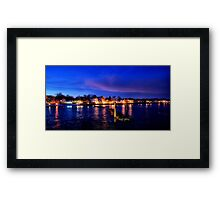 A Night on the Coast Framed Print