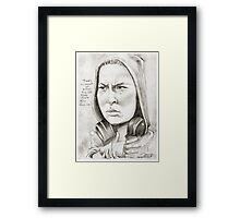 'Ronda' gourmet caricature by Sheik Framed Print
