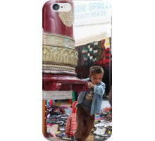The boy and the prayer wheel iPhone Case/Skin
