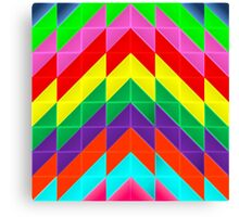 Modern Abstract Geometric Pattern Canvas Print
