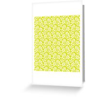 Chartreuse Vintage Wallpaper Style Flower Patterns Greeting Card