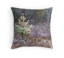 Pine in snow Throw Pillow