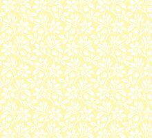 Cream Vintage Wallpaper Style Flower Patterns by ImageNugget