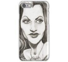 'Lily' gourmet caricature by Sheik iPhone Case/Skin