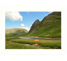 Wild camping in the Scottish Highlands Art Print