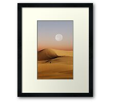 Full Moon over Mesquite Flat Sand Dunes  Framed Print