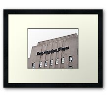 "The ""Old L.A. Times"" Building Framed Print"