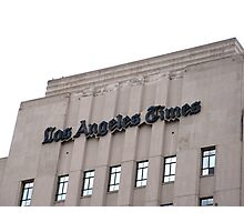 """The """"Old L.A. Times"""" Building Photographic Print"""